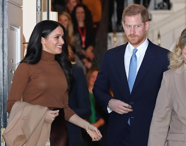 Prince Harry and Meghan Markle are taking on the Mail on Sunday over publication of a letter from her to her father (PA)