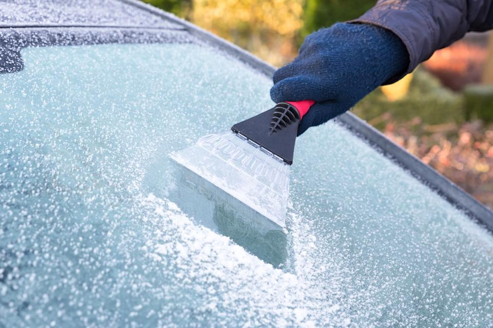 Always use a proper ice scraper, however tempting it is to use a credit card [Photo: Getty]