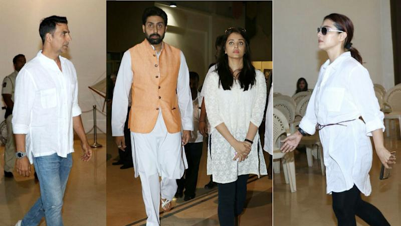 Bachchans, Akshay, Kajol Condole With Suniel Shetty and Family