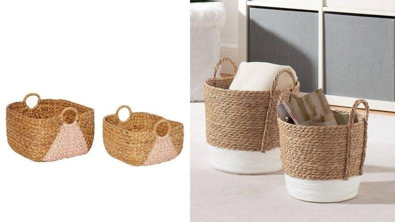 Earthy baskets are a down-to-earth way to keep your home looking pretty and practical.