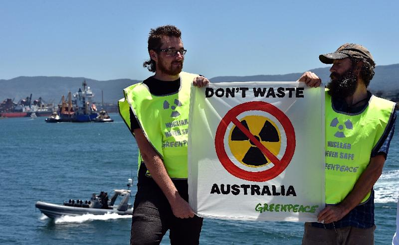Prospect of a nuclear dump in Australia has proven controversial in the past (AFP Photo/Saeed Khan)
