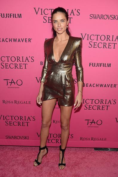 <p>Adriana Lima's a golden goddess on and off the runway. </p>
