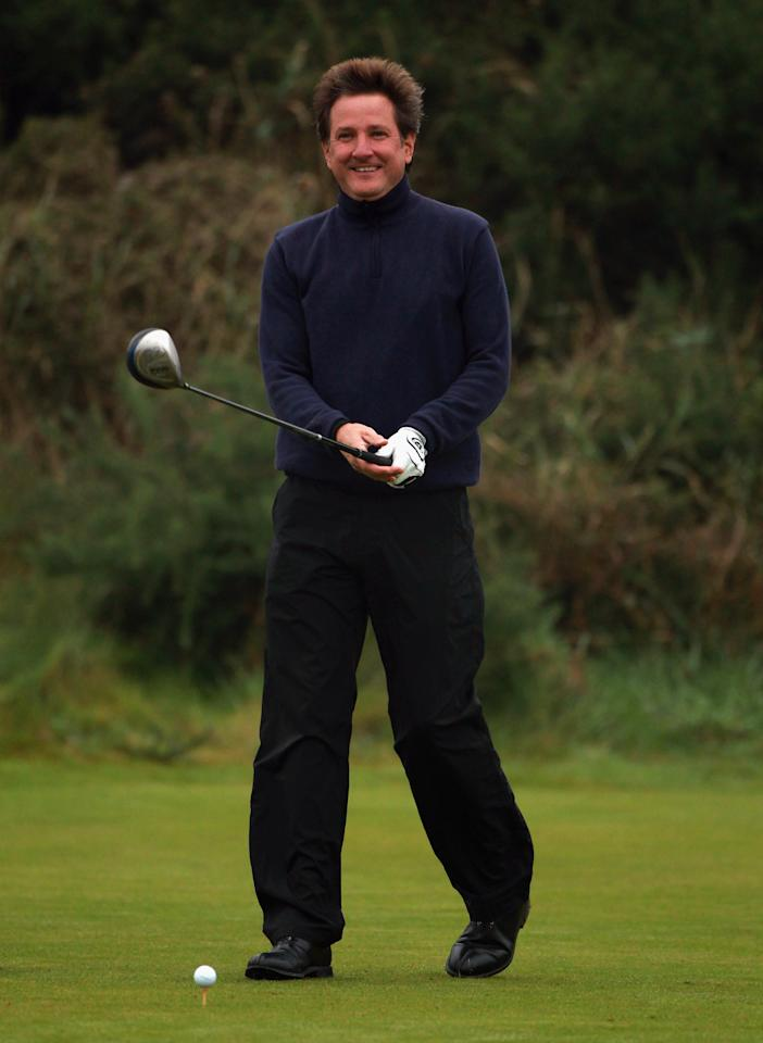 KINGSBARNS, SCOTLAND - OCTOBER 08:  Mark Nicholas, former England cricketer, in action during the second round of The Alfred Dunhill Links Championship at Kingsbarns Golf Links on October 8, 2010 in Kingsbarns, Scotland.  (Photo by Andrew Redington/Getty Images)