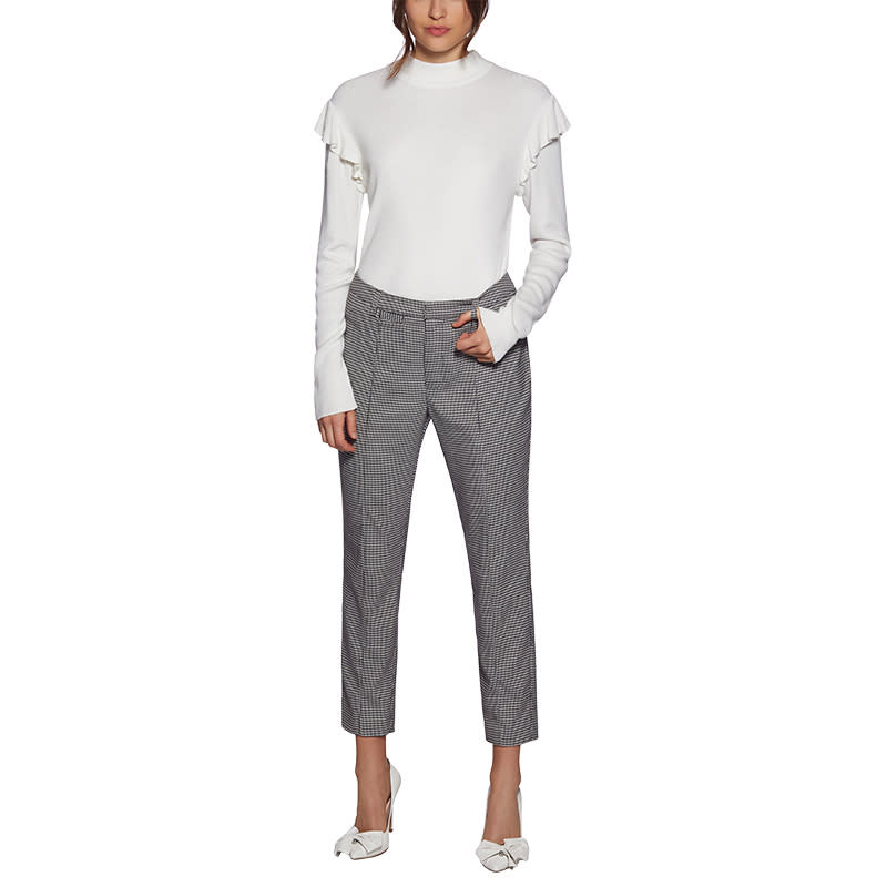 "<a rel=""nofollow"" href=""https://aveclesfilles.com/collections/new/products/houndstooth-pant?variant=590356643846"">Houndstooth Pant, Avec Les Filles, $98<p><strong>If you like:</strong> contemporary staples you can wear from day to night.</p> </a>"