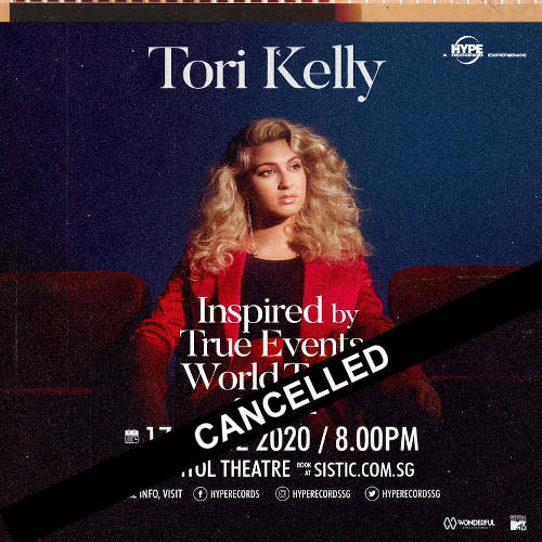 Looks like fans will have to wait for another time to see Tori Kelly live in Singapore.