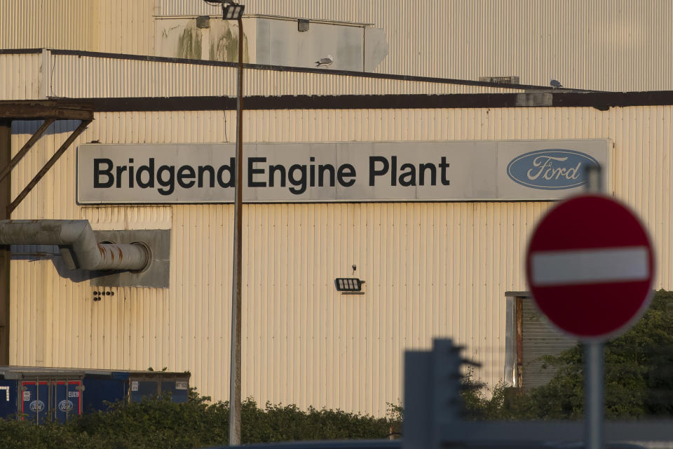 BRIDGEND, WALES - JUNE 05: A general view of the Bridgend Ford Engine plant on June 5, 2019 in Bridgend, Wales. Union sources have said the engine plant in Bridgend will close in September 2020. The British car industry is facing a series of difficulties including a fall in demand for diesel vehicles and a deteriorating sales trend in the Far East. (Photo by Matthew Horwood/Getty Images)
