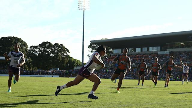 There were NRL wins for the Storm and the Dragons on Sunday as Wests Tigers and New Zealand Warriors suffered defeats.