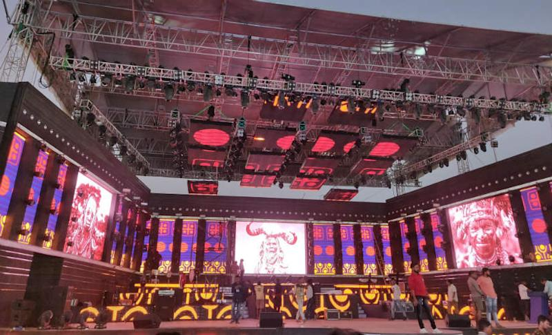 Stage is set for a star-studded opening ceremony of the Hockey World Cup 2018. Firstpost/ Shantanu Srivastava
