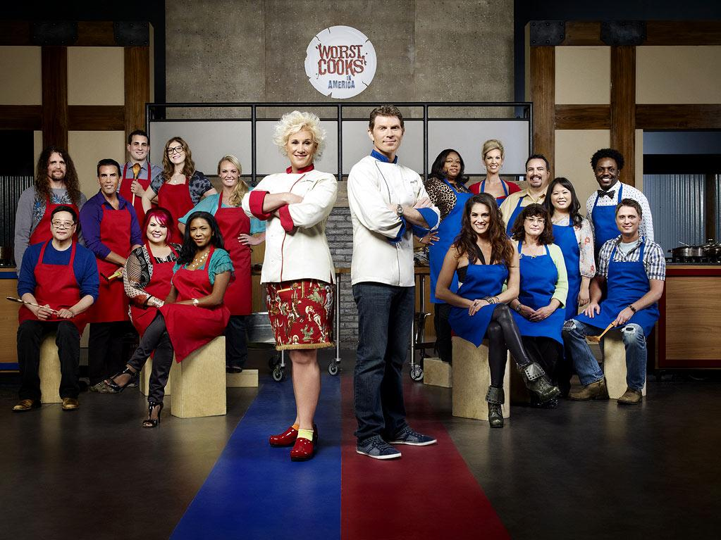 """The cast of """"Worst Cooks in America."""""""