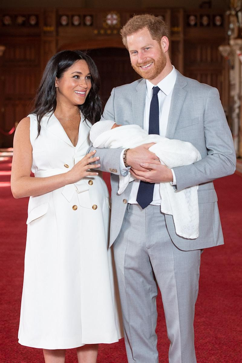 "Meghan and Harry <a href=""https://www.huffingtonpost.ca/entry/royal-baby-born-meghan-harry_ca_5cd9f84fe4b031ad510e9128"" target=""_blank"" rel=""noopener noreferrer"">welcome their son</a>, Archie Harrison Mountbatten-Windsor, into the world."