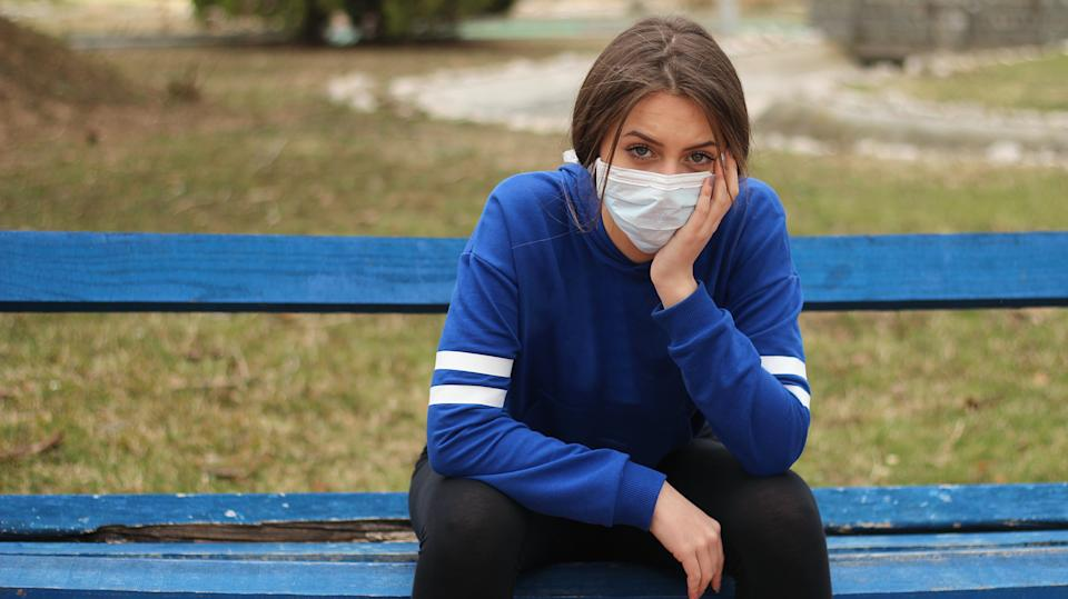 The study found around a quarter of people had had an argument with a friend or family member about their attitude towards the pandemic. (Getty)