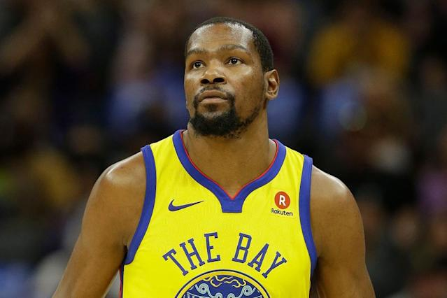 """I don't really tie 'em up that tight,"" Durant said."