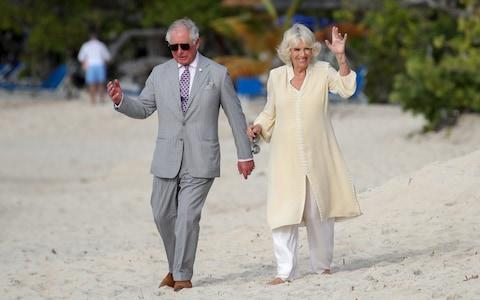 The Duke and Duchess of Cornwall in Grenada earlier this week - Credit: Getty