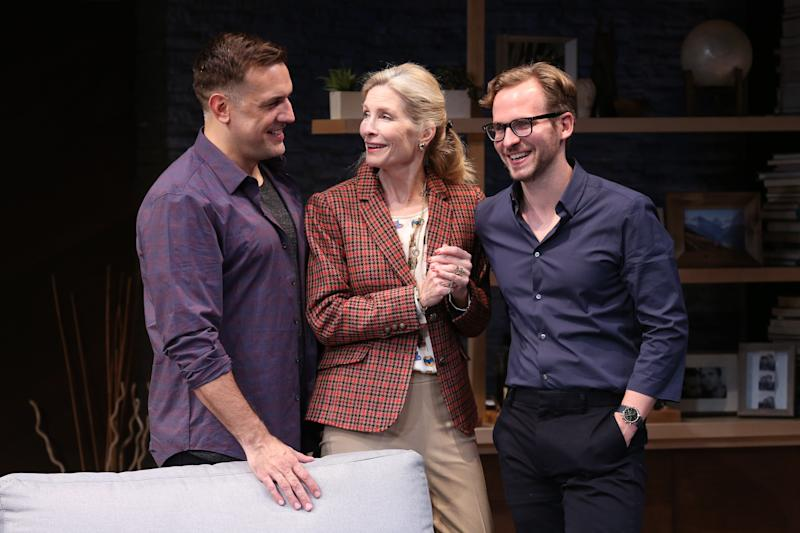 """Anna Holbrook (center) plays Lydia, Daniel's doting but co-dependent mother, in """"Daniel's Husband."""" (Carol Rosegg )"""