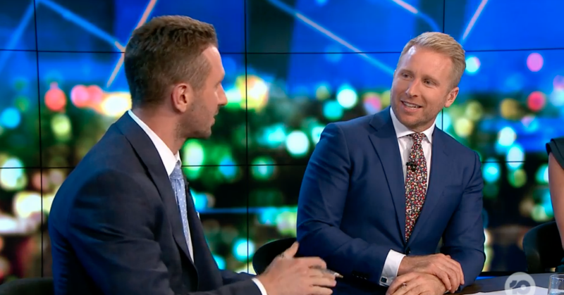 Hamish Macdonald talk to co-host Tom Little on Network 10's The Project