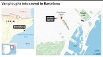 13 dead as van rams crowd in Barcelona 'terror attack'