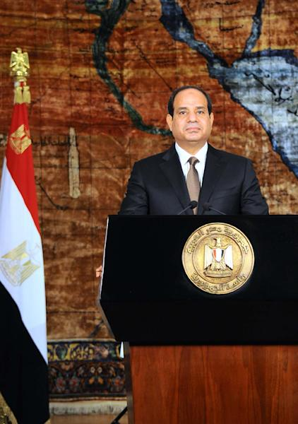 Egypt's President Abdel Fattah al-Sisi gives a speech in the capital Cairo on July 23, 2014 (AFP Photo/Fadi Fares)