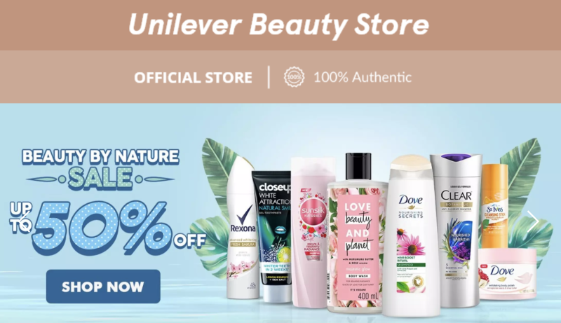 Unilever: All your beauty needs answered. PHOTO: Lazada