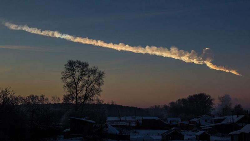 The meteor trail taken about 200km away from Chelyabinsk a minute after the blast in 2013. Image courtesy: Flickr/Alex Alishevskikh