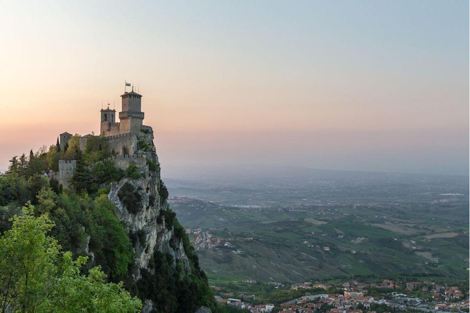 <p>Something tells us that you wouldn't get much cell service at this mountaintop fortress, but with views like that, you probably wouldn't need it anyway.</p>