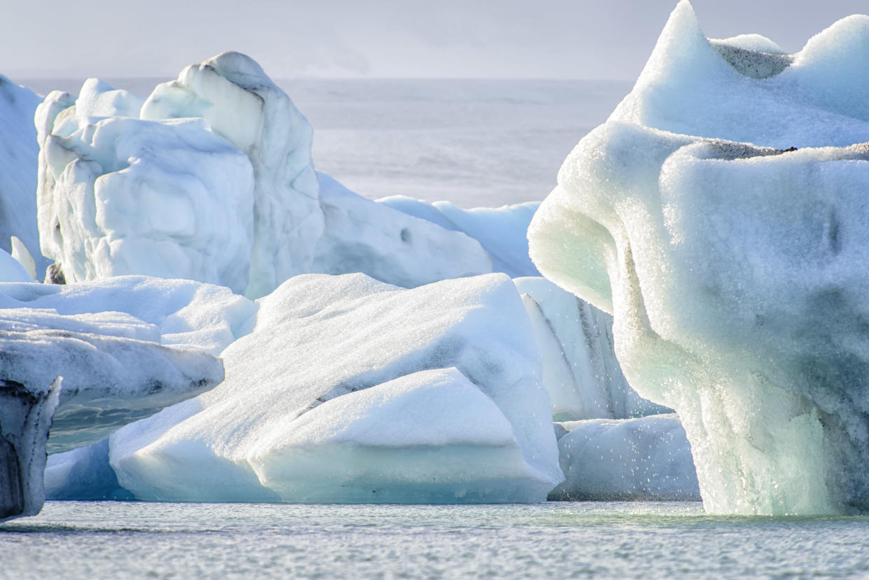 Icebergs are melting due to global warming. (Photo: Getty Images)