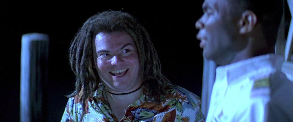 <p>Though uncredited in the film's OG release, that's really Jack Black playing a stoner named Titus Telesco, who meets his fate either because of his name or those unfortunate dreads.</p>