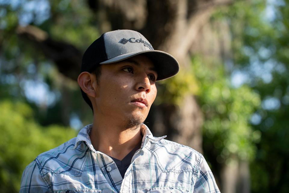 Francis Portillo says that when Border Patrol agents found him, he knew he was safe.