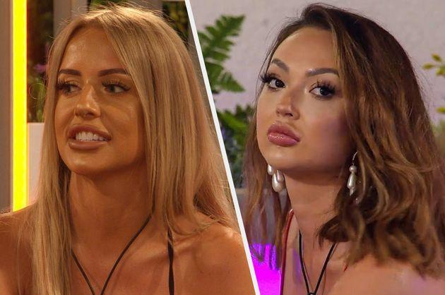 Love Island's Faye and Sharon have talked openly about their lip filler (Photo: ITV / HuffPost)