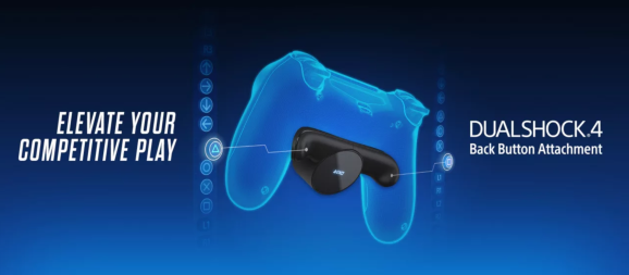 The DualShock 4 Back Button Attachment with two extra inputs and an OLED screen.