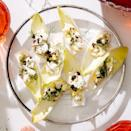 <p>Bitter crunch from the Belgian endive is a foil for the creamy, peppery egg salad and briny caviar topping in this healthy appetizer recipe.</p>