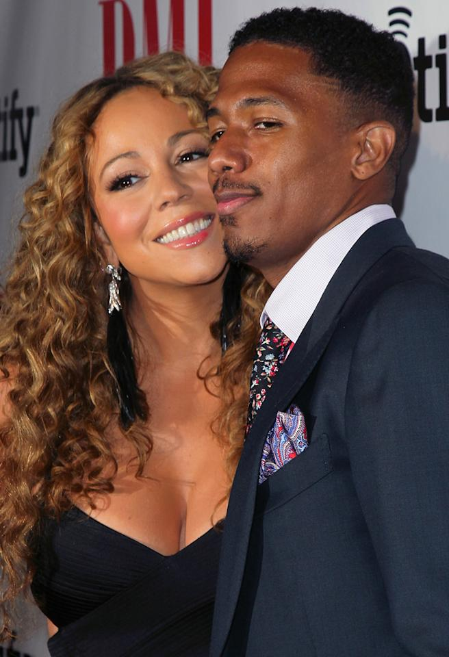 BEVERLY HILLS, CA - SEPTEMBER 07:  Recording artist Mariah Carey (L) and husband TV personality Nick Cannon attend the 12th Annual BMI Urban Awards at the Saban Theatre on September 7, 2012 in Beverly Hills, California.  (Photo by David Livingston/Getty Images)