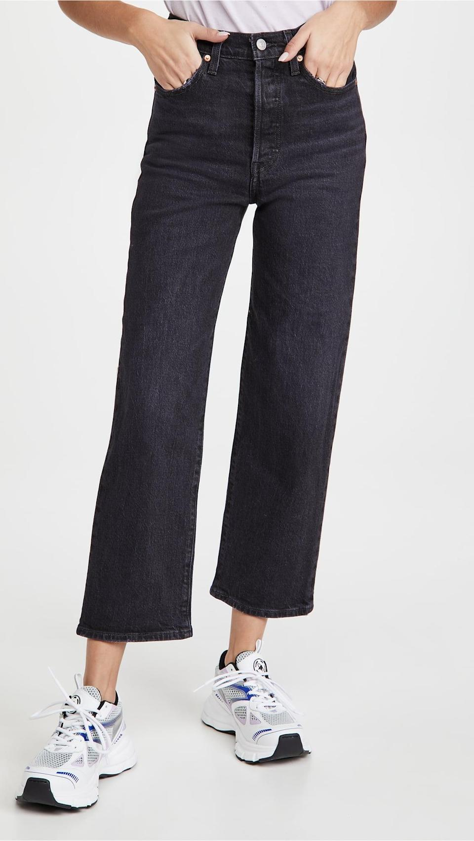 <p>Try something different and rock the <span>Levi's Ribcage Straight Ankle Jeans</span> ($98).</p>