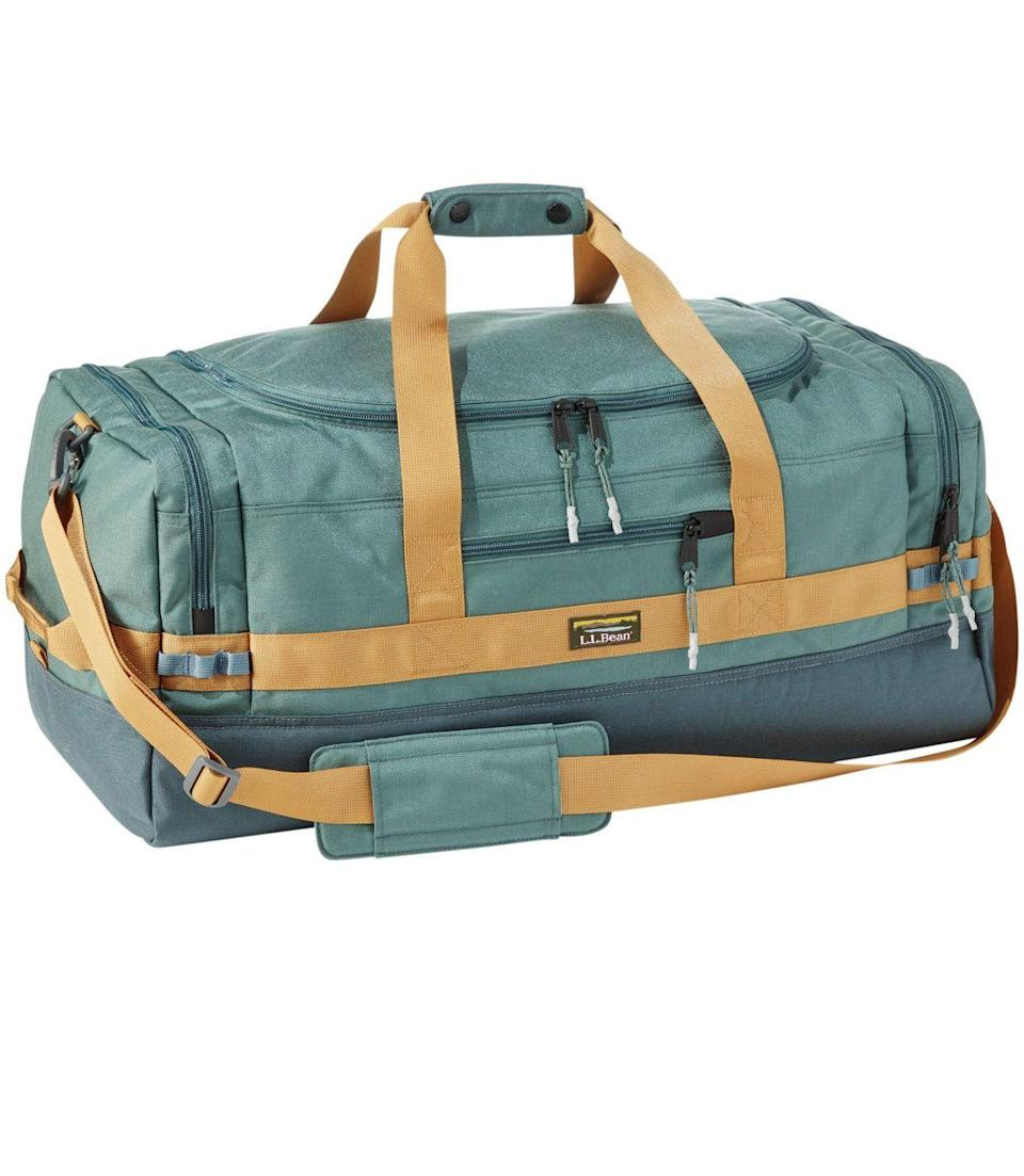 """<h2>L.L.Bean Mountain Classic Cordura Duffle</h2><br><strong>The Type: </strong>Medium duffel<br><br><strong>The Hype:</strong> 4.9 out of 5 stars and 29 reviews at L.L.Bean<br><br><strong>What Travelers Say: </strong>""""I ordered the large and small online since the medium was sold out. The large was much too large for what I needed and the small too small. I went to the store to get the medium in the color I wanted (black) and the size is great. It will be perfect for a weekend getaway OR a weeklong stay. The side pockets are perfect to keep shoes separate from clothing and a toiletry bag as well... I had it monogrammed. I highly recommend this bag!"""" —<em>LLBeanAddict, L.L.Bean Reviewer</em><br><br><em>Shop</em> <a href=""""http://llbean.com"""" rel=""""nofollow noopener"""" target=""""_blank"""" data-ylk=""""slk:L.L. Bean"""" class=""""link rapid-noclick-resp""""><strong><em>L.L. Bean</em></strong></a><br><br><strong>L.L. Bean</strong> Mountain Classic Cordura Duffle, Medium, $, available at <a href=""""https://go.skimresources.com/?id=30283X879131&url=https%3A%2F%2Fwww.llbean.com%2Fllb%2Fshop%2F121980"""" rel=""""nofollow noopener"""" target=""""_blank"""" data-ylk=""""slk:L.L. Bean"""" class=""""link rapid-noclick-resp"""">L.L. Bean</a>"""