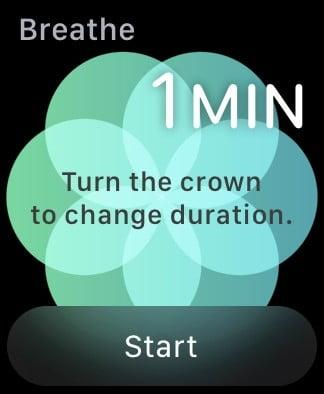 Apple Watch Breathe app