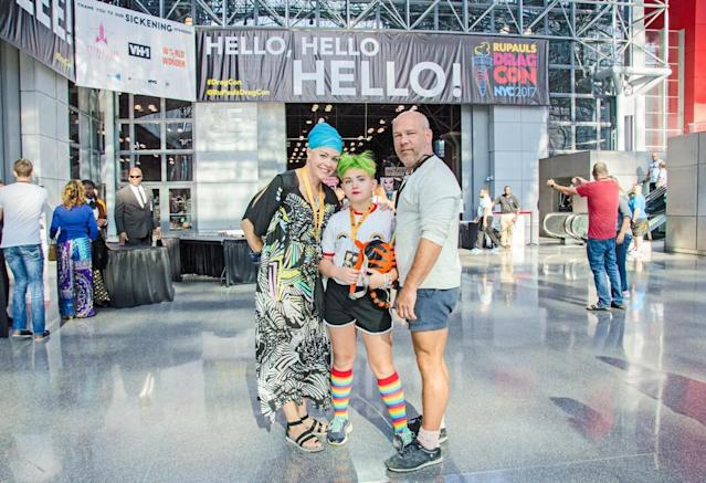 Families were a common sight at RuPaul's DragCon on Sept. 10 and 11. (Photo: The Drunken Photographer for Yahoo)