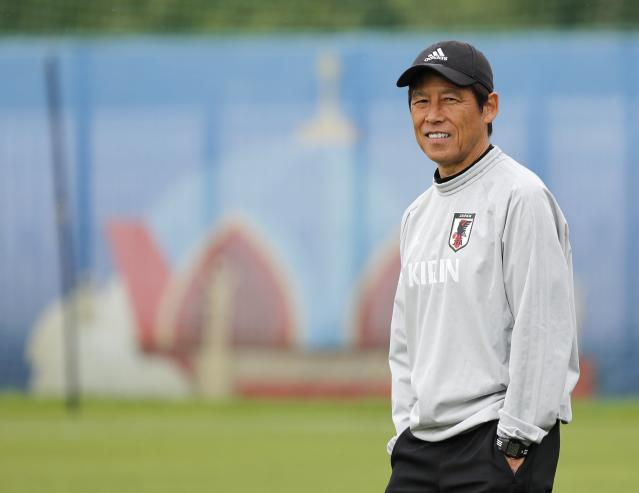 Soccer Football - World Cup - Japan Training - Japan Team Training Site, Kazan, Russia - June 20, 2018 Japan's coach Akira Nishino during training REUTERS/Toru Hanai