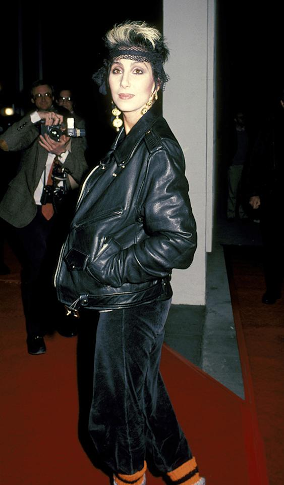 "<a href=""http://movies.yahoo.com/movie/1800023317/info"">Mask</a> Los Angeles premiere (1985)"