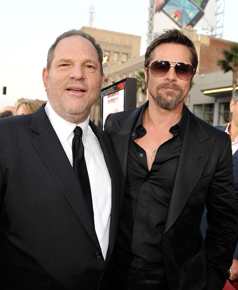 Brad and Weinstein pictured together in 2009. Source: getty