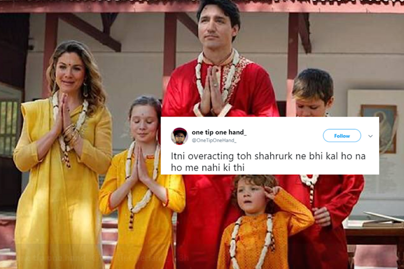 'Justin Trudeau'ss entire India trip looks like a badly done Manyavar ad.'