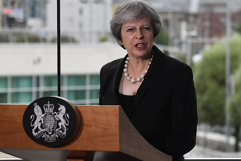 Digging in: Theresa May (Getty Images)