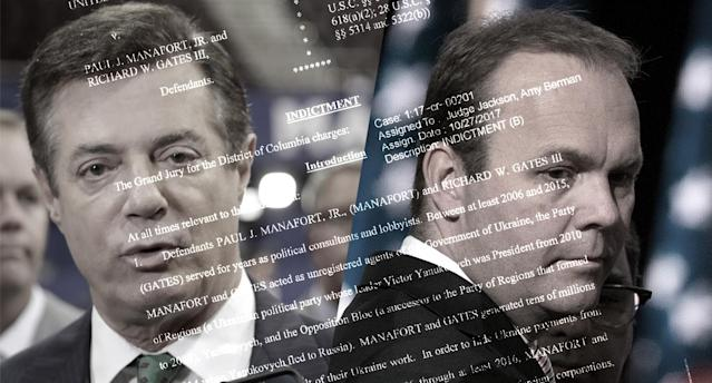 Paul Manafort and Rick Gates. (Yahoo News photo Illustration; photos: AP)