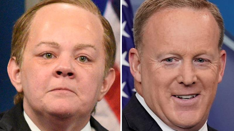 Sean Spicer Wants A Slice Of Melissa McCarthy's 'SNL' Emmy