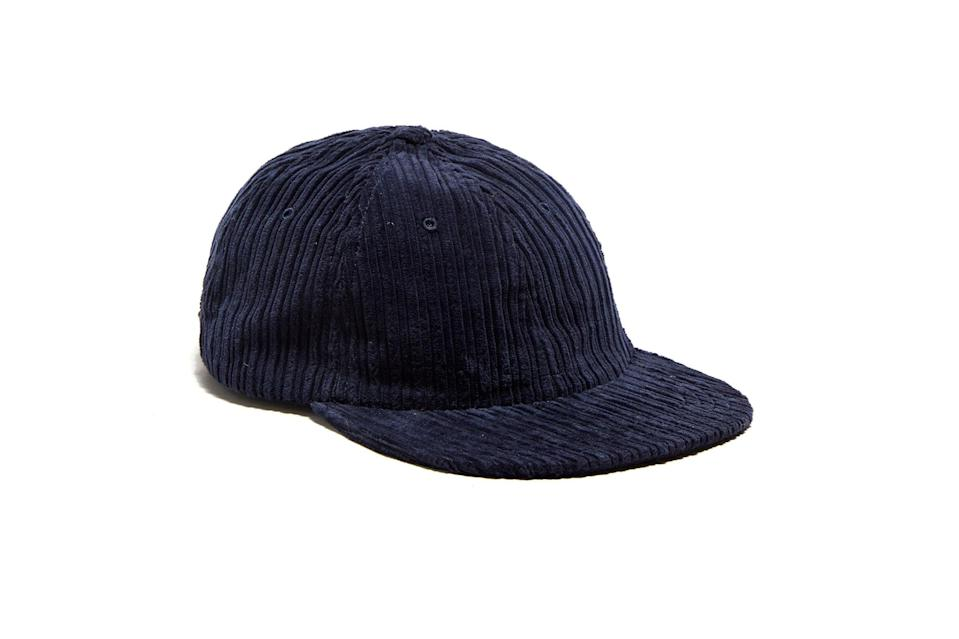 "$58, Todd Snyder. <a href=""https://www.toddsnyder.com/collections/sale/products/corduroy-hat-navy"" rel=""nofollow noopener"" target=""_blank"" data-ylk=""slk:Get it now!"" class=""link rapid-noclick-resp"">Get it now!</a>"