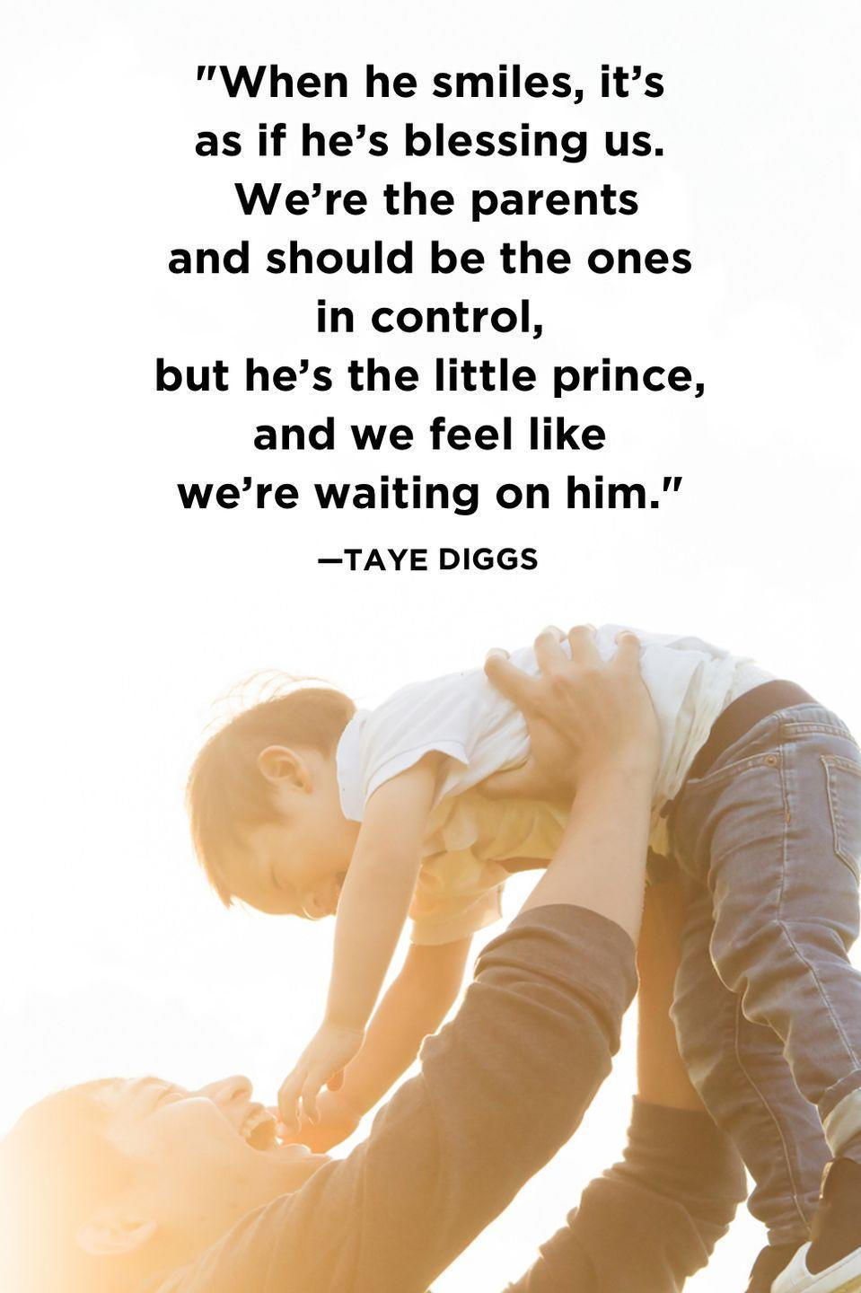 """<p>""""When he smiles, it's as if he's blessing us. We're the parents and should be the ones in control, but he's the little prince, and we feel like we're waiting on him.""""</p>"""