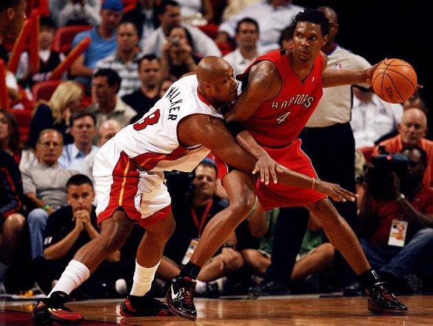 The Heat and Raptors meet. (Getty Images)