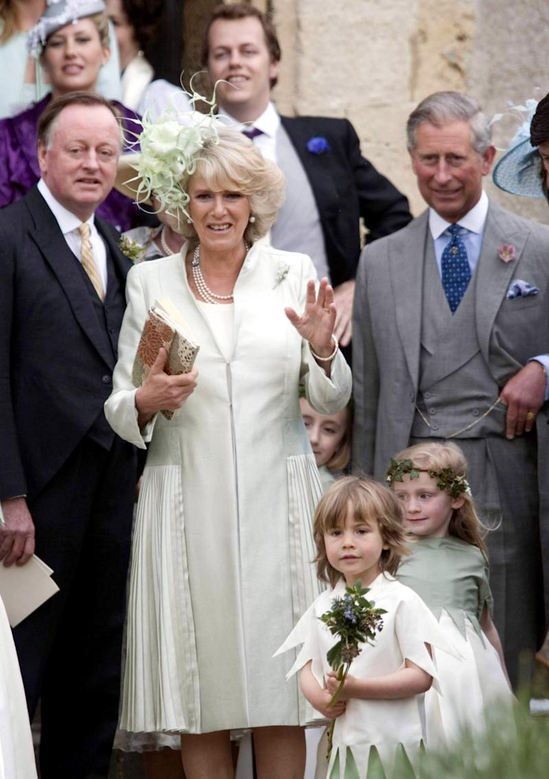 The Prince Of Wales, The Duchess Of Cornwall & Andrew Parker Bowles Attend The Wedding Of Laura Parker Bowles & Harry Lopes At St Cyriacs Church, Lacock, Wiltshire.