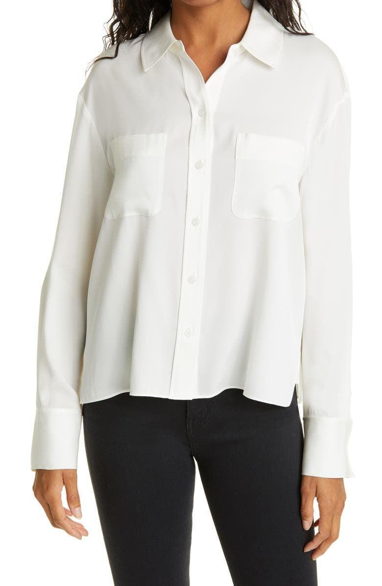 <p>The classic <span>Nordstrom Signature Silk Button-Up Blouse</span> ($149) is something you can own for years to come and always turn to. It'll look great with trousers and skirts or even when you want to dress up some jeans.</p>
