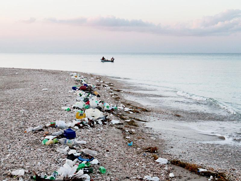 Around eight million tons of plastic waste are dumped in the ocean each year PA: PA