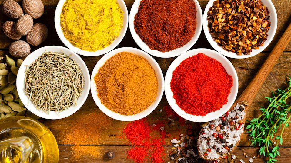 Exotic spices and herbs