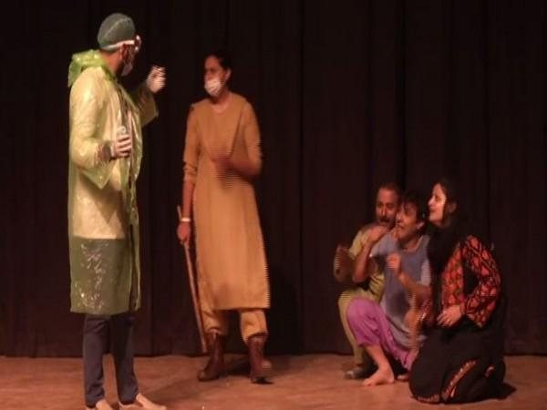 A play being organised at the event. (Photo: ANI)